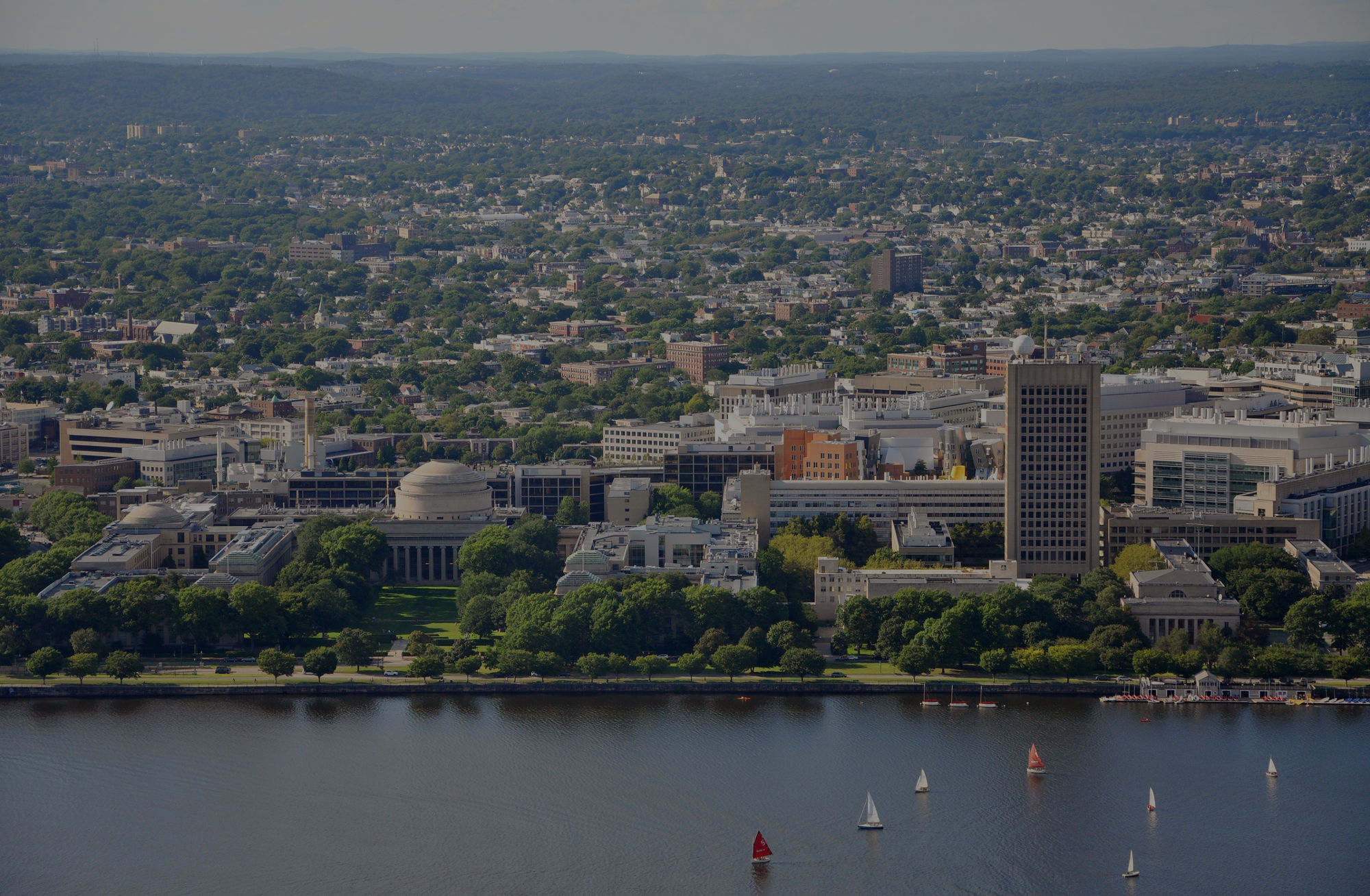 Aerial view of Massachusetts Institute of Technology (MIT) in Cambridge, MA. Recruiting research volunteers in Boston, MA and beyond. Serving MIT faculty, staff, and graduate students seeking to conduct behavioral research.